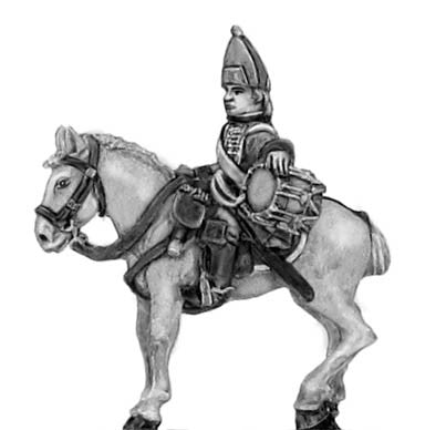 (300SYW556) Regiment of horse in tricorn Trumpeter