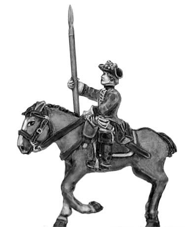 (300SYW558) Regiment of horse in tricorn Standard Bearer