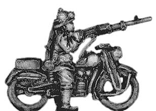 (300WWT51) Bersaglieri on motorcycle with LMG