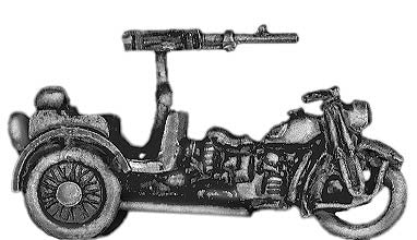 (300WWT52) Italian tricycle with LMG, no rider