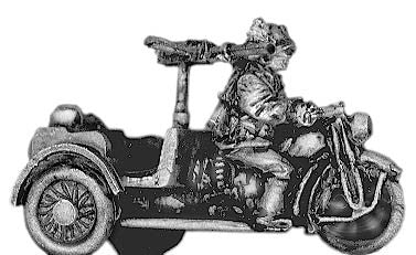 (300WWT54) Bersaglieri on tricycle with LMG
