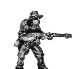 (300WWT68) Pacific Australians, flame thrower, bush hat
