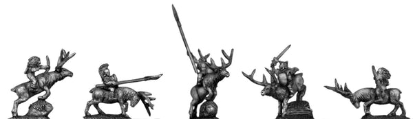 (400FAN24) Elves, mounted on stags