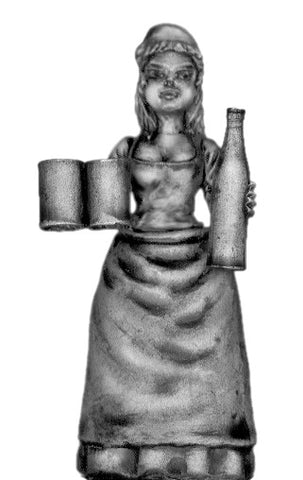 (700OFA20) Serving wench with two full jugs