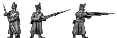 (AB-ER61) Musketeer, shako, greatcoat, skirmishing