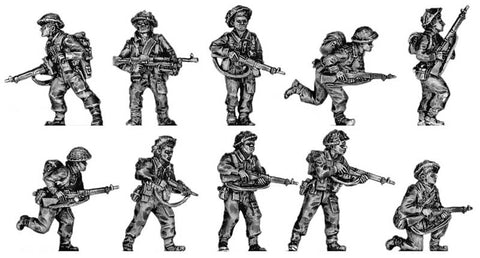 (INB06) British Infantry Section, fighting poses Set 2