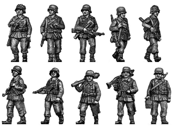(ING01) Wehrmacht Infantry section marching