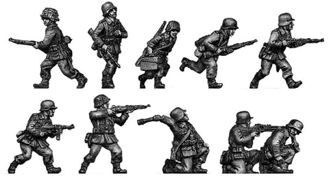 (ING02) Wehrmacht Infantry section advancing/skirmishing