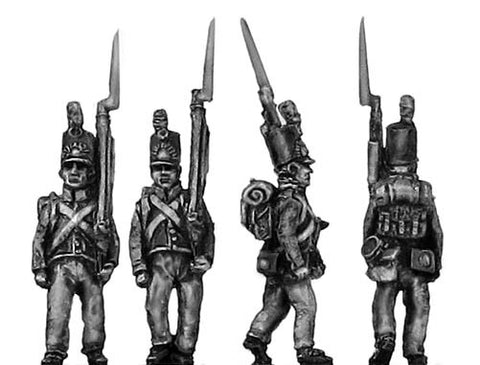 (AB-NED17)  Dutch Militia, marching