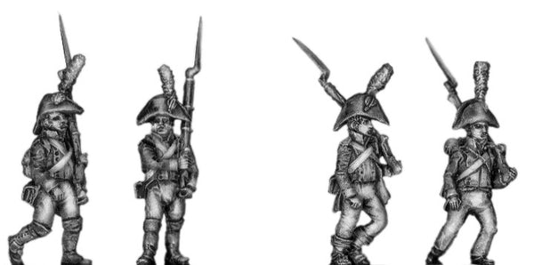 (AB-S01a) Fusilier, cocked hat, marching
