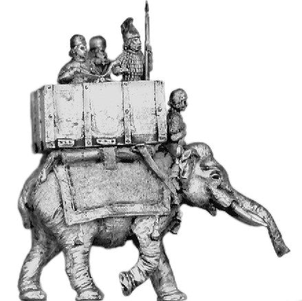 (AB-SAS13) Elephant and crew