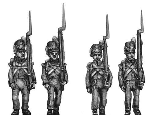 (AB-WB11) Flank Company, marching, shoulder arms
