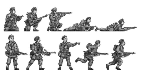 (INP01) Polish paratroopers in action - 10 figure set