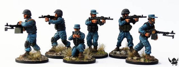 (100MOD054) 28mm Afghan National Police in soft hats