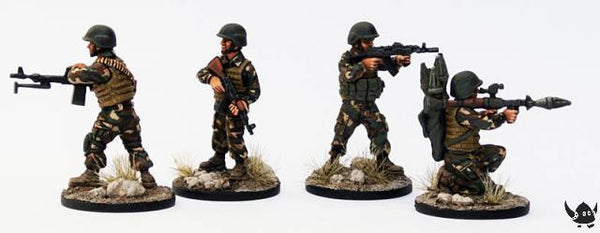 (100MOD055) 28mm Afghan National Police, in helmets