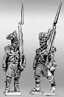 (AB-B21)  Highland Infantry, flank co., marching, shoulder arms
