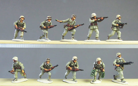(ING70) NEW DAK Infantry section advancing- 10 figures