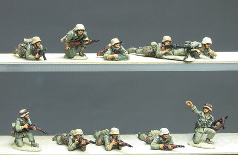 (ING71) NEW DAK infantry section prone- 10 figures