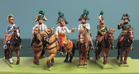 (AB-KK49) Archduke Charles and staff (6 mtd. figures)
