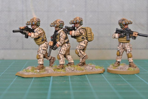 (100MOD062a) NEW 28mm SEAL Team Six Set #2 + dog (10 variants in quad night vision glasses)
