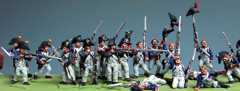(AB-F19) Enthusiastic infantry set | bicorne (5 figures)