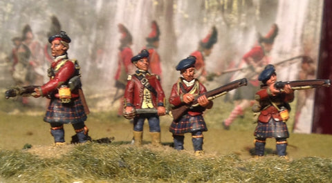 (100AOR005) Highlander infantry in North American uniform-11 figure set