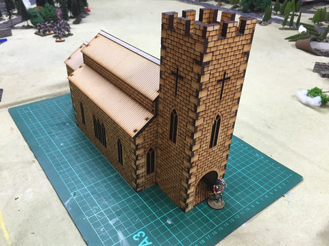(BAL1010) Stone Church 28mm