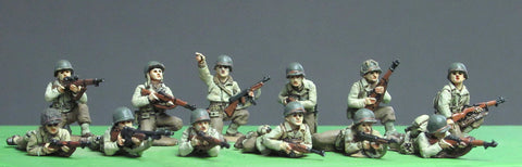 (INA03) 20mm AB Infantry squad, kneeling/prone