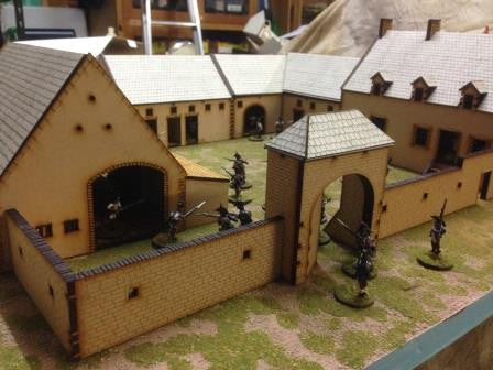 (BAL1015) La Hay Sainte Farm Set 28mm