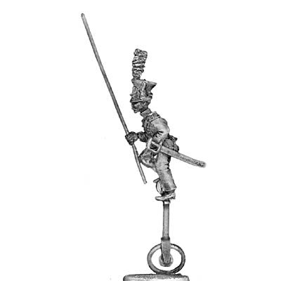 (PAXR07) Standard Bearer on unicycle in czapska