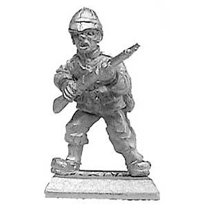 (PAXR23) British infantryman advancing with rifle