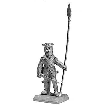 (PAXR26) British standard bearer in lionskin