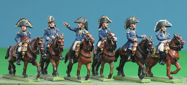 (AB-FSET03) Six mounted marshals and generals