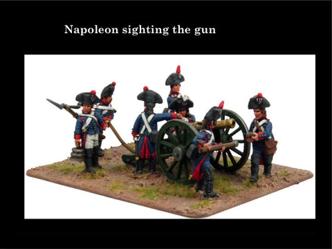 (100WFR110b) French Artillery Set- ragged uniforms, 2 guns & 14 crew