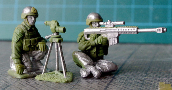 (100MOD069) USMC Sniper Team with Barrett sniper rifle