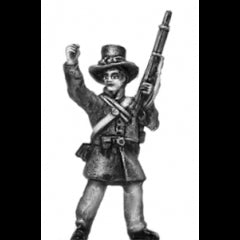 (AB-ACW043) Infantry with hardee hat | cheering