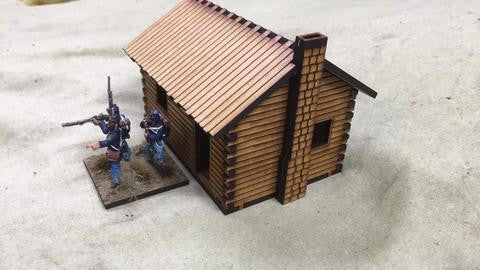 (BAL1090) Log Cabin #1  28mm