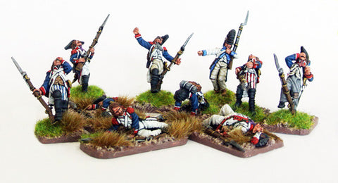 (100WFR032) French Infantry Casualty Set (10 figures)