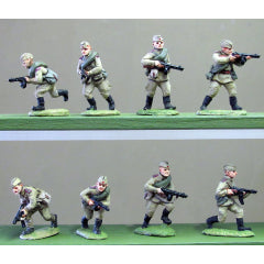 (INS02) Soviet Infantry, Caps, PPSh advancing - 8 figure setSoviet Infantry, Caps, advancing- 8 figure set