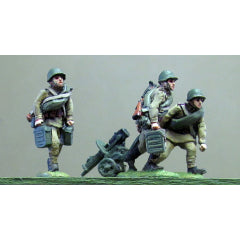 (INS20) Maxim gun team, helmet, advancing- 3 figures + HMG