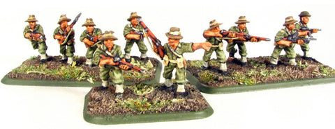 (300WWT60a) Pacific Australians, rifle, bush hat