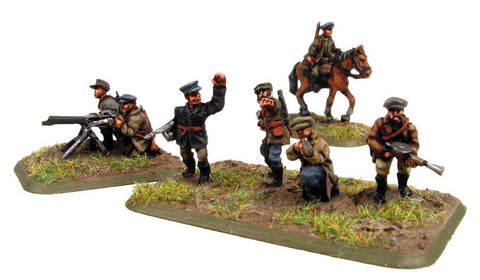 (300WWT152) Soviet militia/partisans with HMG, 2 figure set