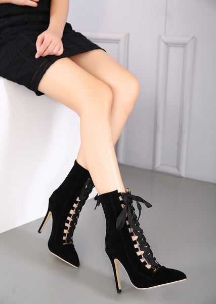 Cross Straps High Heels Pumps