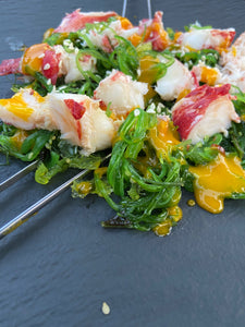 Pembroke Lobster with a Japanese Seaweed Salad (contains Sesame)