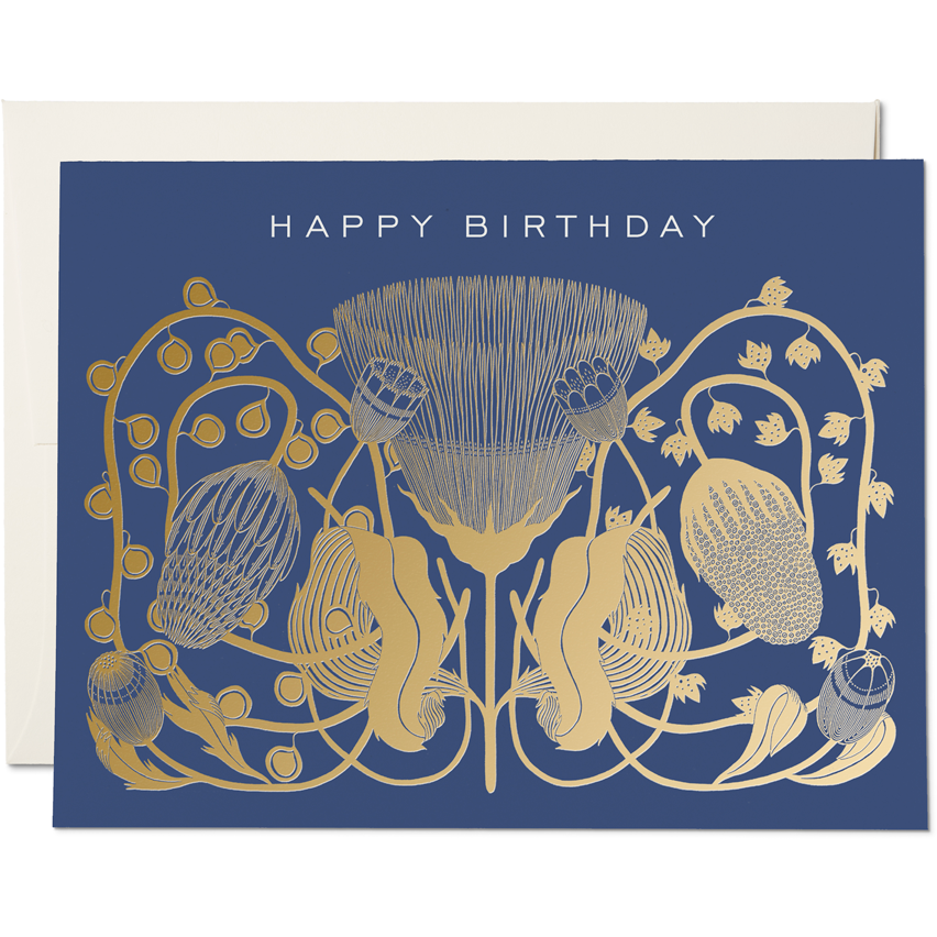 Load image into Gallery viewer, COBALT BIRTHDAY CARD