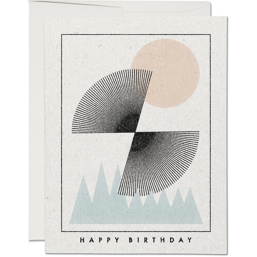 SUN OVER MOUNTAINS BIRTHDAY CARD