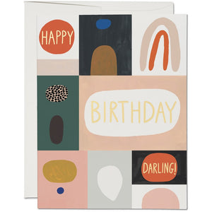 Load image into Gallery viewer, COLOR BLOCK BIRTHDAY CARD