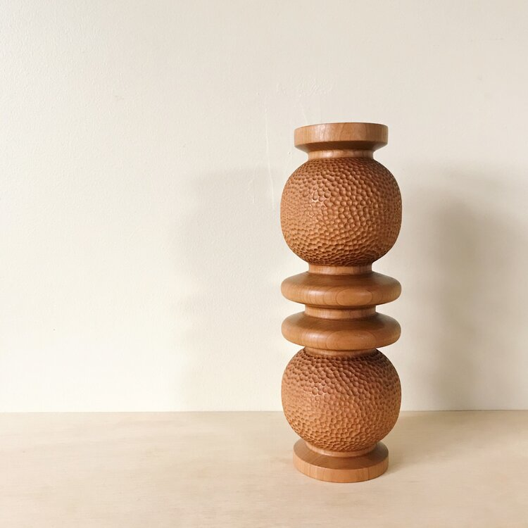 Load image into Gallery viewer, Large Hand Carved Vase