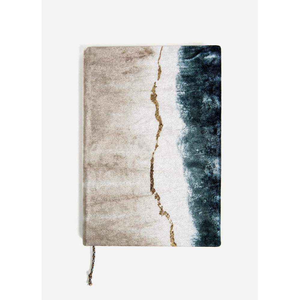 Geode Dip Dye Velvet Journal