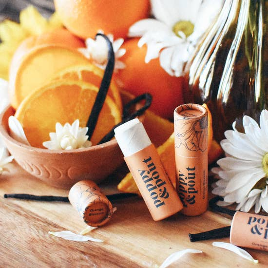 Orange Blossom Lip Balm, Natural Hydrating Skin Care